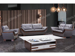 OEM raw wood Teak Leather Sofa810 supplier
