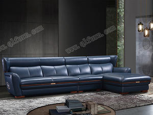 OEM custom White Leather Sofa8073 supplier