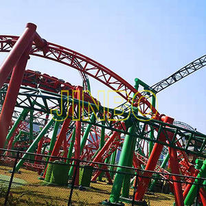 Jinbo Ride Outdoor Giant 3 Loops Roller Coaster for Sale