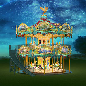 Jinbo Ride New Design Double Decker Carousel for Sale