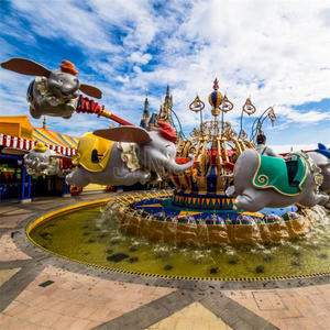 2019 New Fashion Good Quality Classic Theme Park Amusement Rides 24 People Self Control Plane Flying Elephant For Sale