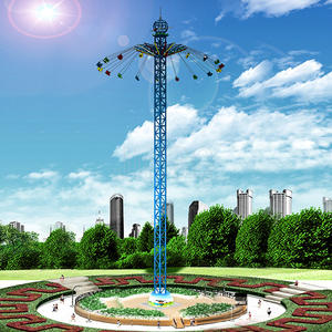Jinbo Ride 50m Amusement Park Flying Tower Rides Factory