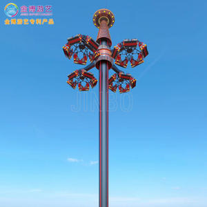 New Park Games 43.8 Meters Flying Tower Sightseeing Tower Ride For Outdoor Amusement Park