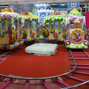 Children Happy Land Park Mini Electric Train On Track For Kiddies Manufacturer In China