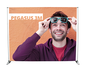 Nimlok-Pegasus 3m Tension Backwall Display
