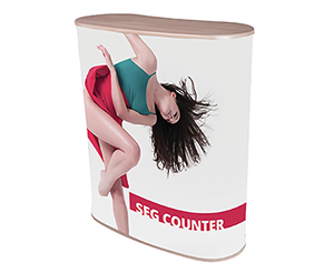 Quick and easy pop up counter manufactuer|HK One Plus Display Products