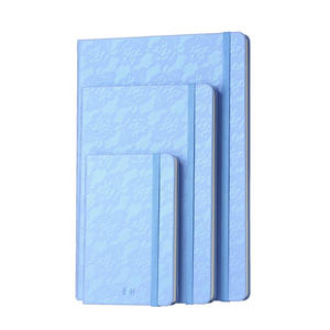 Lace Gradient Color PU Leather Hardcover Stone Paper Business Notepads(with Rope)