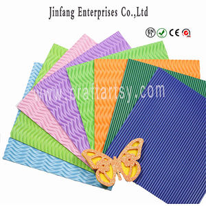 wholesale Ethylene vinyl Acetate sheet/color Embossed eva foam for kids Hand craft