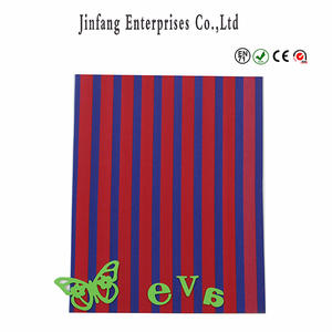 Multicolor Straight Line Soft Eva Foam Sheet