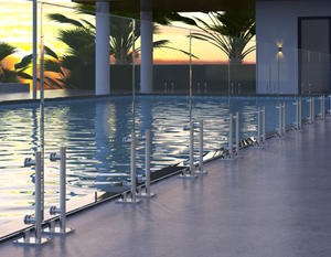 The mini glass standoff railing is an Exclusive Railing product by Jinling Steel.