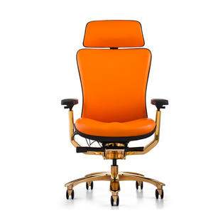 JNS-901 full  leather chair golden painting executive chair