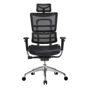 BIFMA adjustable leather seating office chair