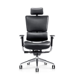 real leather ergonomic mesh chair