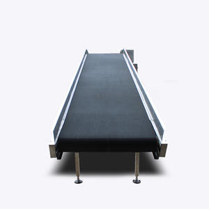 Customized Inclined Belt Conveyor With Black Anti-slip PVC Belt