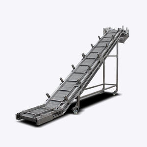 High capacity stainless steel wire mesh belt conveyor for sale