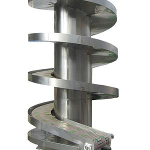 Vertical Spiral Conveyor For Boxes And Cartons