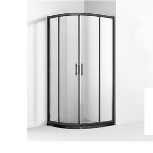 MB242 6mm Glass Black Frame Quadrant Shower Enclosure