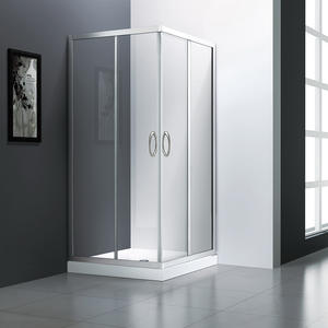Best price square frameless corner entry shower enclosure for sale