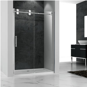 factory direct salestainless steel frameless sliding shower door