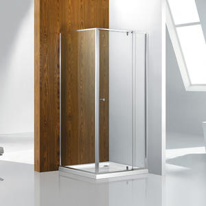 smart adjustable pivot door shower enclosure with slim frame shower supplier