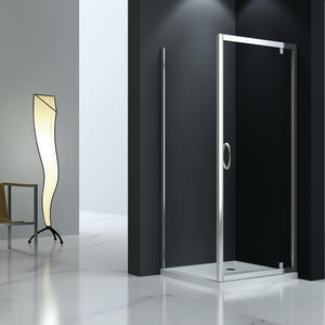 JT523 Semi-frameless Pivot Shower Door Corner Entry