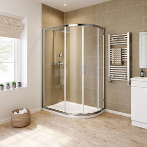 M242-O Roller Door Offset Quadrant Shower Enclosure
