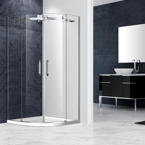 factory price SRF242 Frameless Curved Quadrant Shower Enclosure suppliers