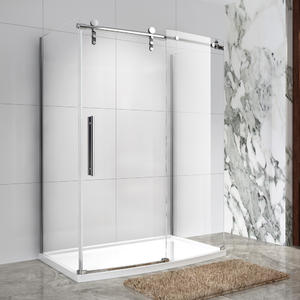 wholesale frameless sliding bow front shower enclosure manufacturing