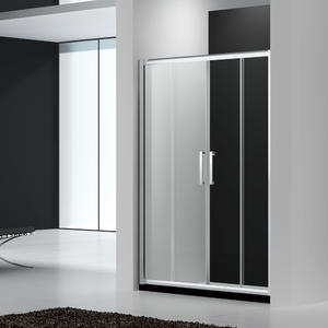 wholesale U142 Luxury double sliding shower doors manufacturer