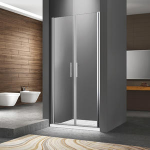 Dual swing semi-frame shower door outward and inward swing shower door