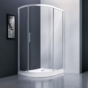 zhongshan factory offer single door offset quandrant shower screen