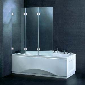 BS07 Frameless 3 Fold Bath Screen