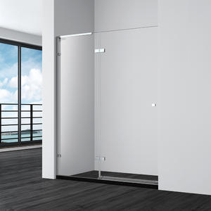 Completely Frameless Hinge Alcove Shower Door