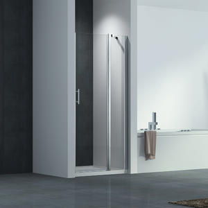 F123 Frameless Glass Pivot Shower Door With Inline Panel