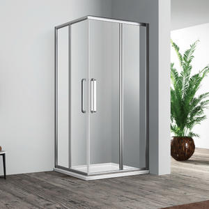 twin door revolving shower enclosure