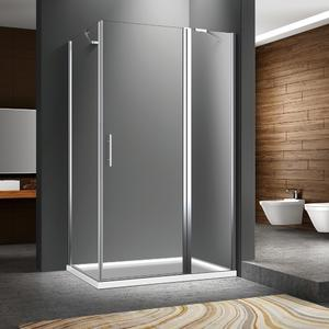 Rectangle pivot shower door