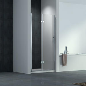 hinge shower door with 1 inline panels in recess