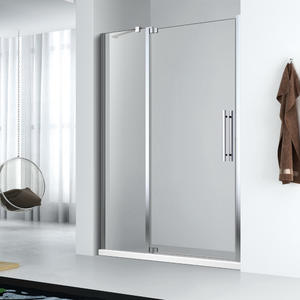 wholesale 1 fix + 1 frameless swing door hinged shower door supplier
