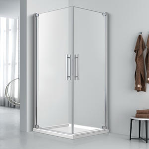 FE542  Frameless Square Glass Shower Enclosure