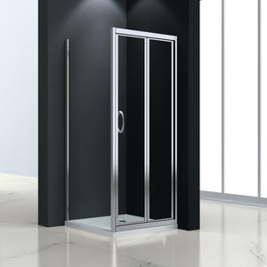 JTB533  glass bi-fold shower cubicle  Front part can be sold as bi-fold door and combine with side panel to a corner shape