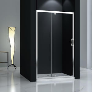 JTP123 tempered glass pivot shower door  1 Fix + 1 Pivot door