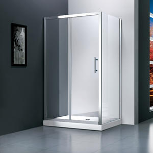 M531 rectangular sliding shower enclosure  Front part can be sold as sliding door and combine with side panel to a corner shape