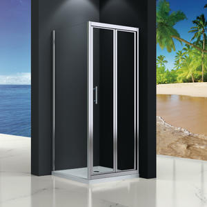 MB533 enclosed bi-fold shower cubicle  Front part can be sold as bi-fold door and combine with side panel to a corner shape
