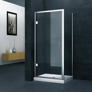 MH523 Hinge door shower enclosure  Front part can be sold as hinge door and combine with side panel to a corner shape