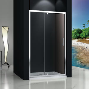 MP123 tempered glass pivot shower door  1 Fix + 1 Pivot door