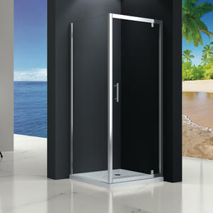 MP523 pivot door shower enclosure Front part can be sold as pivot door and combine with side panel to a corner shape