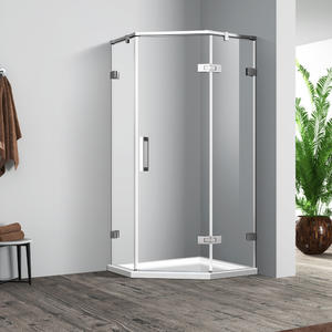 SH333 hinged diamond shower enclosure