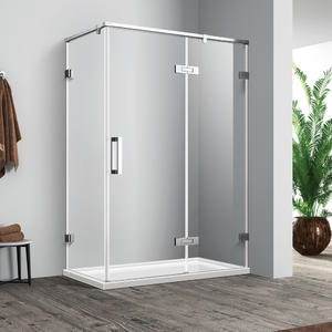 SH533 frameless swing door hinged shower door  Front part can be sold as swing door and combine with side panel to a corner shape