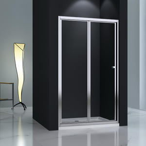TB123 toughened glass bi-fold shower door