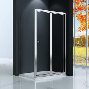TB533 bi-fold folding shower enclosure, Front part can be sold as bi-fold door and combine with side panel to a corner shape